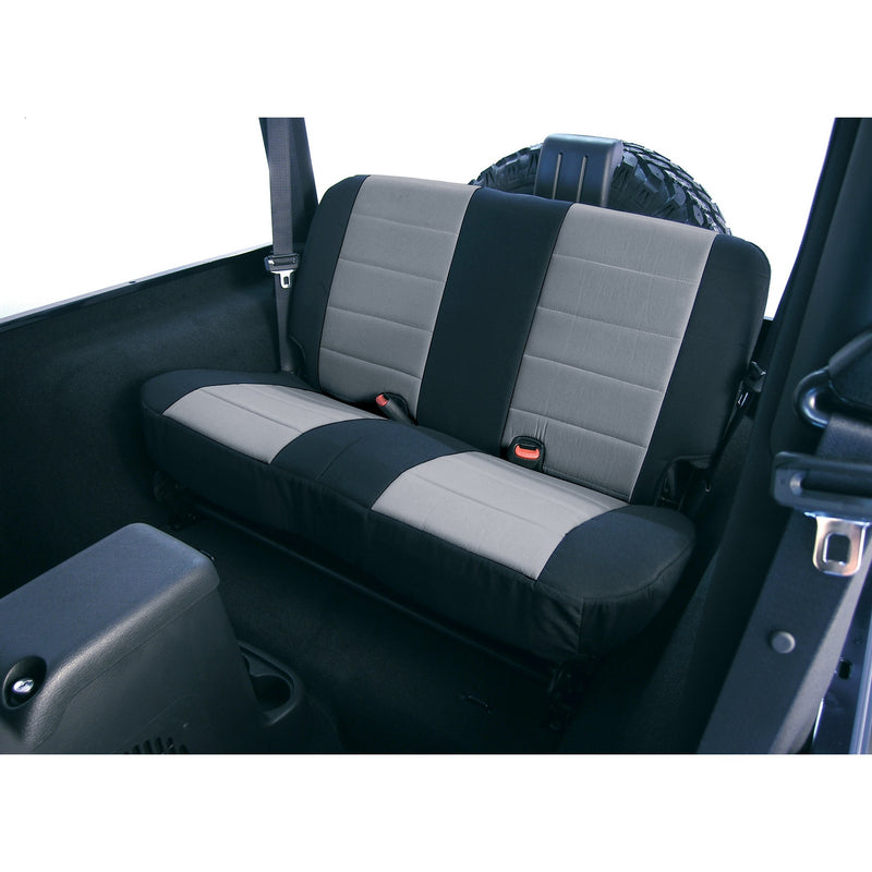 Fabric Rear Seat Covers, Gray by Rugged Ridge ('03-'06 Jeep Wrangler TJ)
