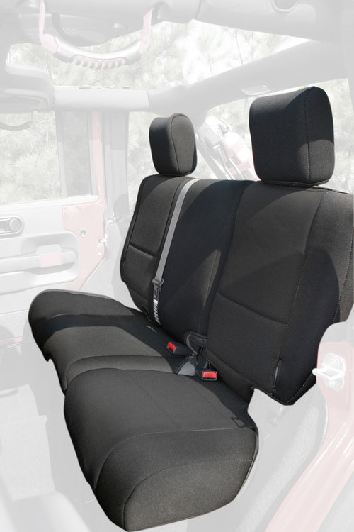 Seat Cover Kit, Black by Rugged Ridge ('07-'10 Wrangler JKU)