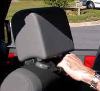 Jeep Back Seat Grab Handles - Rugged Ridge ('93-'17 Wrangler YJ, TJ, JK)
