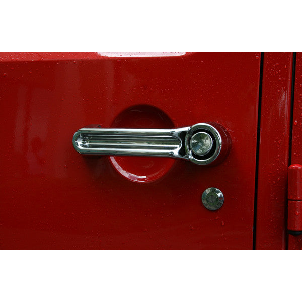 Door Handle Cover Kit, Chrome by Rugged Ridge ('07-'18 Jeep Wrangler JK)