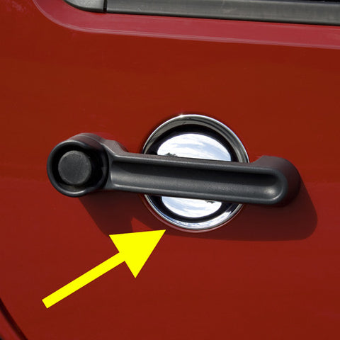 Door Handle Recess Guards, Chrome by Rugged Ridge ('07-'18 Jeep Wrangler JK)