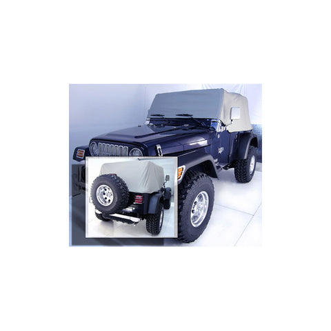 Cab Cover, Gray by Rugged Ridge ('92-'06 Jeep Wrangler YJ, TJ)
