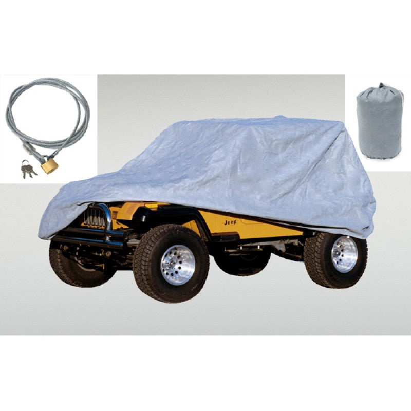 Full Car Cover Kit by Rugged Ridge ('55-'06 Jeep Wrangler CJ, YJ, TJ)