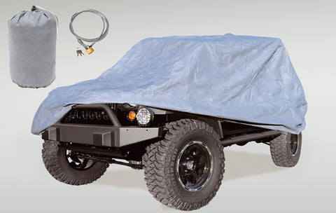 Full Car Cover Kit by Rugged Ridge ('81-'86 Jeep CJ8; '04-'18 LJ; '07-'18 JK)