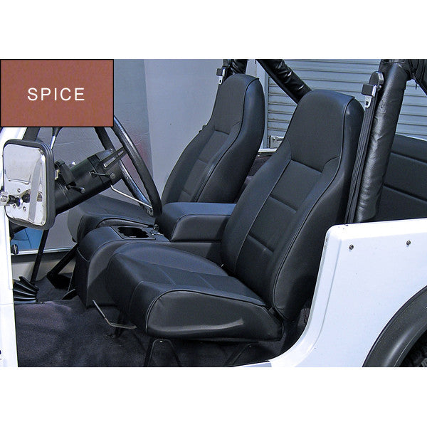 High-Back Front Seat, No-Recline, Spice by Rugged Ridge ('76-'02 Jeep Wrangler CJ, YJ, TJ)