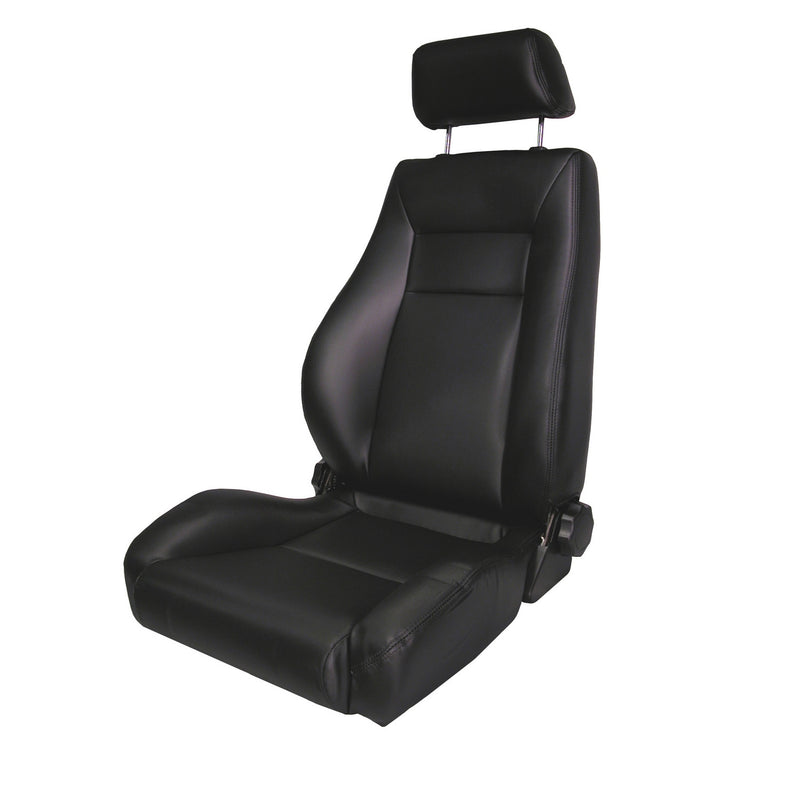 Ultra Front Seat, Reclinable, Black Denim by Rugged Ridge ('76-'02 Jeep Wrangler CK, YJ, TJ)