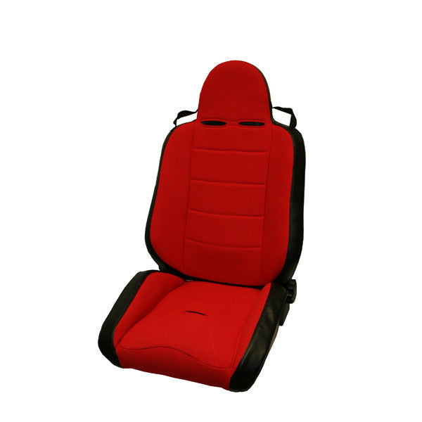 RRC Off Road Racing Seat, Reclinable, Red by Rugged Ridge ('76-'02 CJ/Wrangler YJ, TJ)