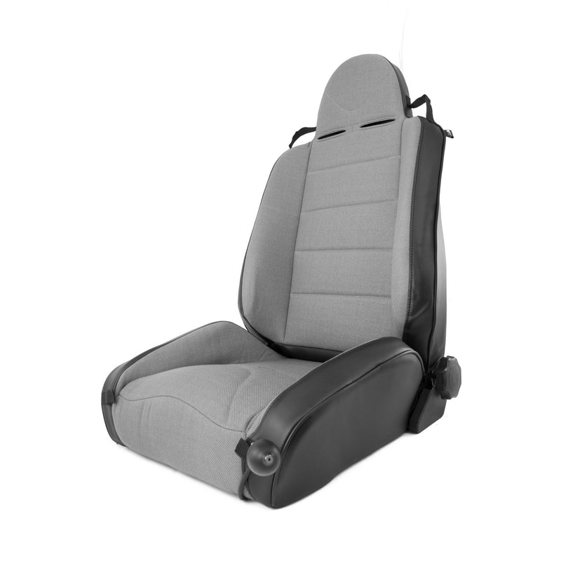 RRC Off Road Racing Seat, Reclinable, Gray by Rugged Ridge ('97-'06 Jeep Wrangler TJ)