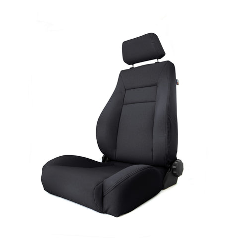 Ultra Front Seat, Reclinable, Black Denim by Rugged Ridge ('84-'01 Jeep Cherokee XJ)