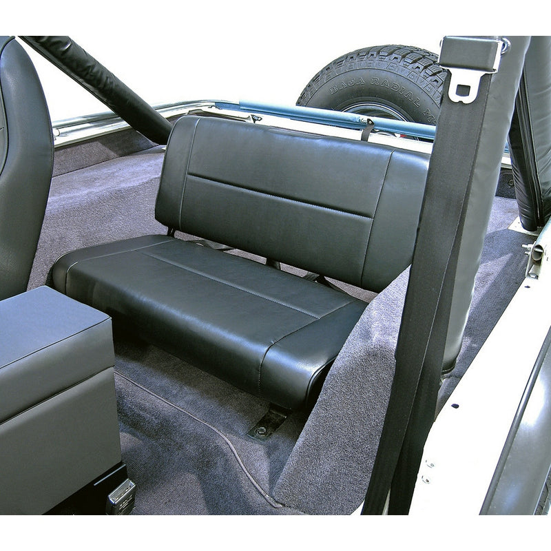 Fixed Rear Seat, Black by Rugged Ridge ('55-'95 Jeep Wrangler CJ, YJ)