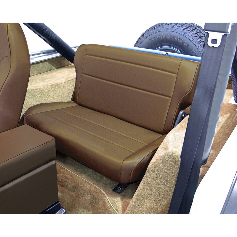 Fold and Tumble Rear Seat, Nutmeg by Rugged Ridge ('76-'95 Jeep Wrangler CJ, YJ) - Jeep World