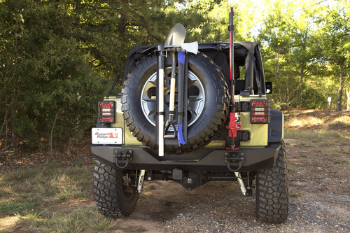 Spare Tire Tool Rack System by Rugged Ridge (Universal Spare Tires)