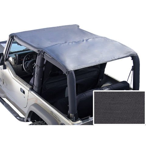 Roll Bar Top, Black Denim by Rugged Ridge ('76-'91 Jeep Wrangler CJ, YJ)