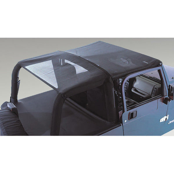 Mesh Header Roll Bar Top by Rugged Ridge ('97-'06 Jeep Wrangler TJ)