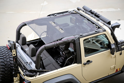 Eclipse Sun Shade, Front, American Flag by Rugged Ridge ('07-'18 Jeep Wrangler JK)