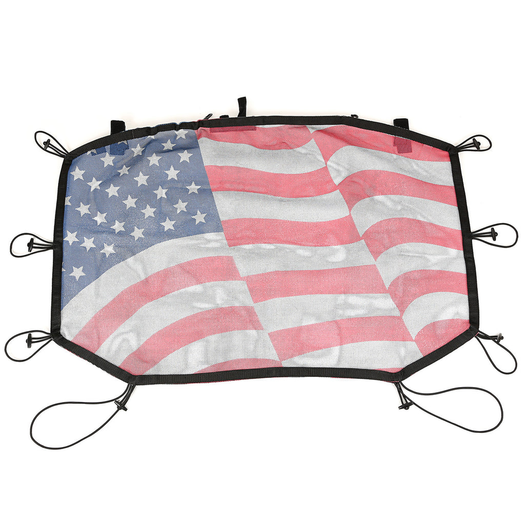 Eclipse Sun Shade, Front, American Flag by Rugged Ridge ('07-'18 Jeep Wrangler JK) - Jeep World