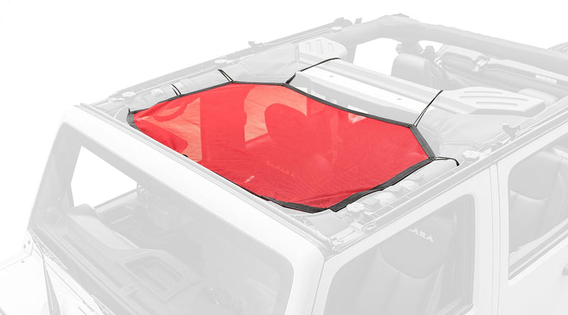 Eclipse Sun Shade, Front, Red by Rugged Ridge ('07-'18 Wrangler JK) - Jeep World