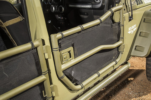 Front Tube Cargo Covers by Rugged Ridge ('07-'18 Wrangler JK/JKU)