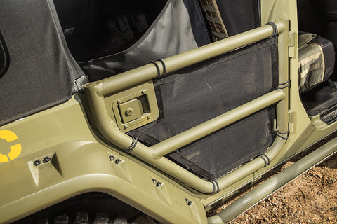 Rear Tube Cargo Covers by Rugged Ridge ('07-'18 Wrangler JKU)