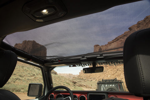 Front Eclipse Sun Shade, Black by Rugged Ridge ('18 Wrangler JL)