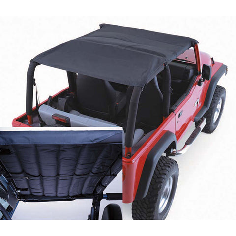 Acoustic Island Topper Soft Top, Black Denim by Rugged Ridge ('97-'06 Jeep Wrangler TJ)