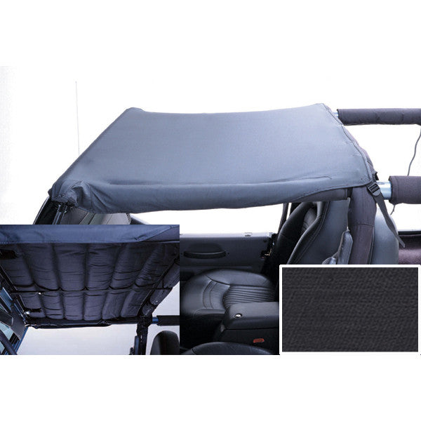 Acoustic Header Brief, Black Denim by Rugged Ridge ('97-'06 Jeep Wrangler TJ) - Jeep World
