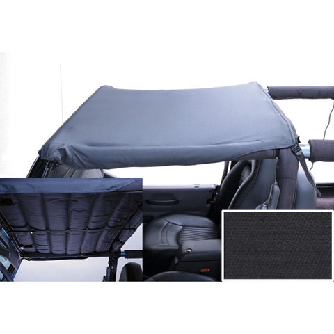 Acoustic Header Brief, Black Denim by Rugged Ridge ('97-'06 Jeep Wrangler TJ)