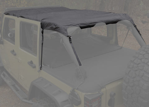 Montana Pocket Island Topper, Black Diamond by Rugged Ridge ('10-'18 Wrangler JKU 4 Door)