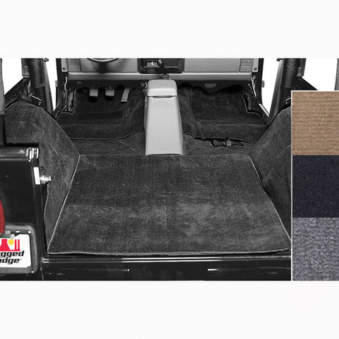 Deluxe Carpet Kit, Black by Rugged Ridge ('76-'95 Jeep Wrangler CJ, YJ)