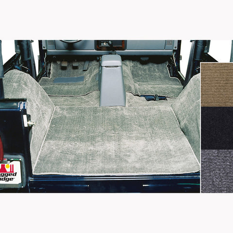 Deluxe Carpet Kit, Honey by Rugged Ridge ('76-'95 Jeep Wrangler CJ, YJ)