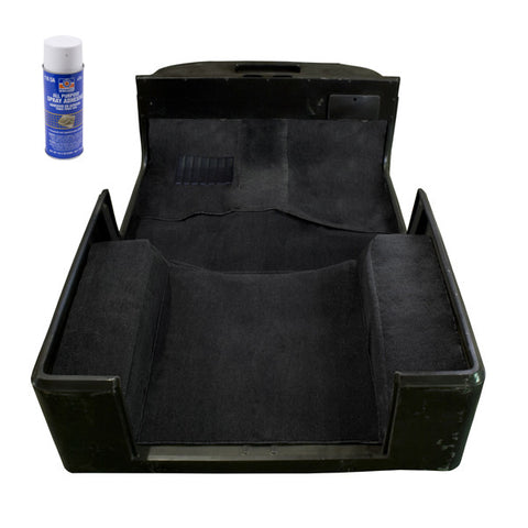 Deluxe Carpet Kit with Adhesive, Black by Rugged Ridge ('97-'06 Jeep Wrangler TJ)