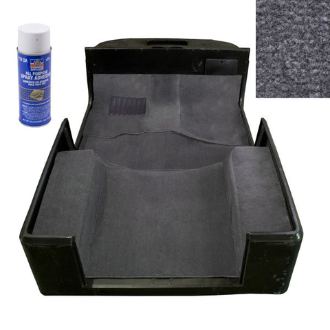 Deluxe Carpet Kit with Adhesive, Gray by Rugged Ridge ('97-'06 Jeep Wrangler TJ)