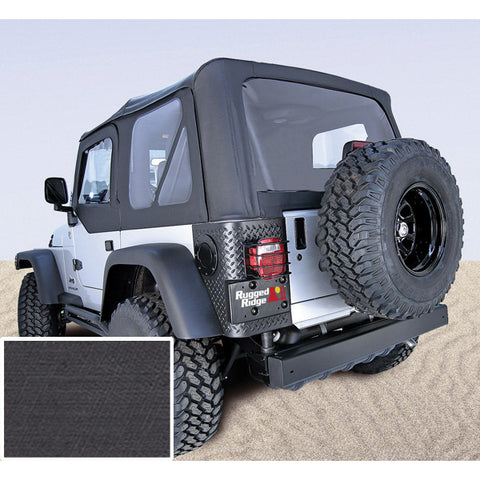 Soft Top, Door Skins, Black, Clear Windows by Rugged Ridge ('97-02 Jeep Wrangler TJ)