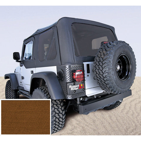 Soft Top, Door Skins, Dark Tan, Tinted Windows by Rugged Ridge ('97-02 Jeep Wrangler TJ)
