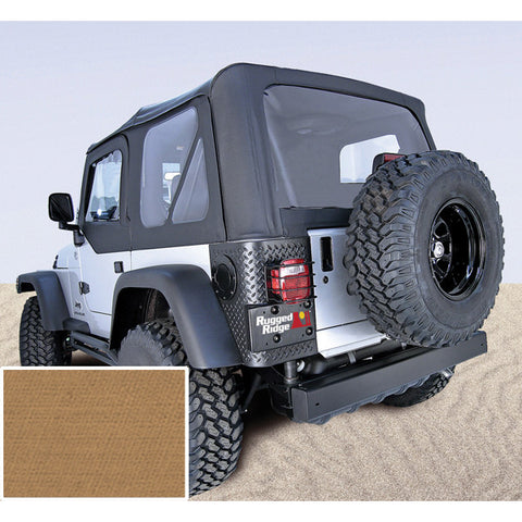 Soft Top, Spice, Clear Windows, Without Door Skins by Rugged Ridge ('97-02 Jeep Wrangler TJ)