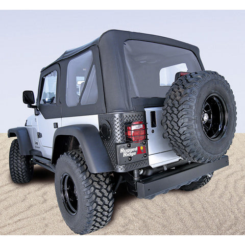 S-Top With Door Skins, Black, Tinted Windows by Rugged Ridge ('97-'06 Wrangler)