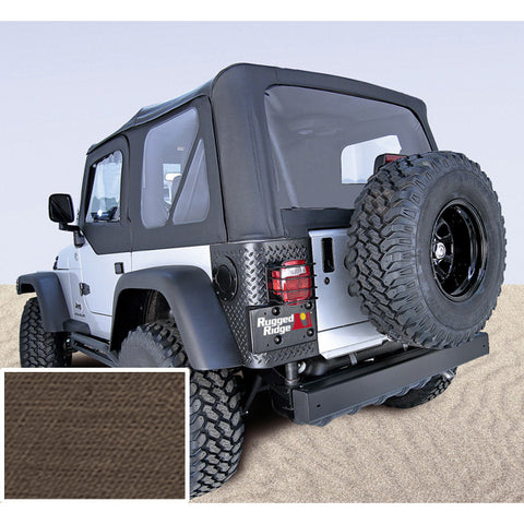 Soft Top, Door Skins, Khaki, Clear Windows by Rugged Ridge ('03-'06 Jeep Wrangler TJ)