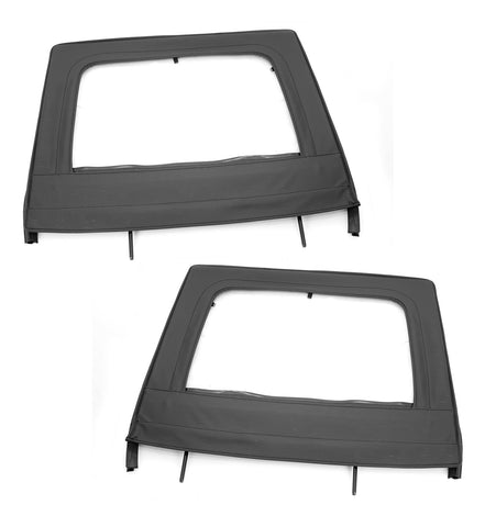 Upper Door Kit, Rear, Black by Rugged Ridge ('07-'18 Jeep Wrangler JKU)