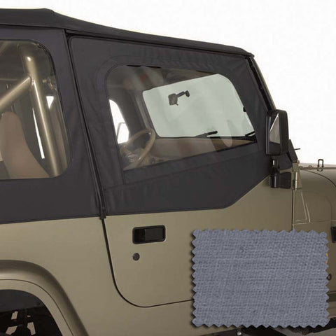 Upper Soft Door Kit, Gray by Rugged Ridge ('88-'95 Jeep Wrangler YJ)
