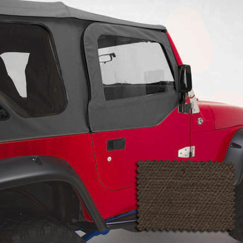 Upper Soft Door Kit, Khaki Denim by Rugged Ridge ('97-'06 Jeep Wrangler TJ)