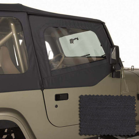 Door Skins, Black Denim by Rugged Ridge ('88-'95 Jeep Wrangler YJ)
