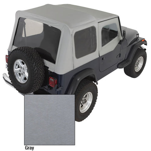 XHD Soft Top, Charcoal, Clear Windows by Rugged Ridge ('88-'95 Jeep Wrangler YJ)
