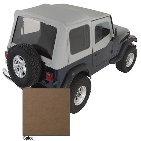 XHD Soft Top, Spice, Clear Windows by Rugged Ridge ('88-'95 Jeep Wrangler YJ)