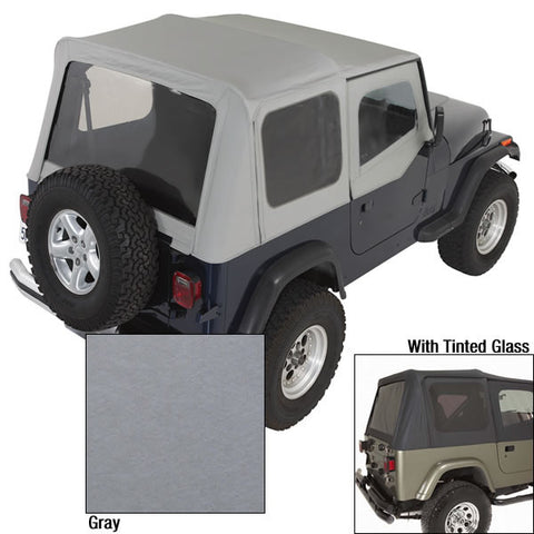 XHD Soft Top, Charcoal, Tinted Windows by Rugged Ridge ('88-'95 Jeep Wrangler YJ)