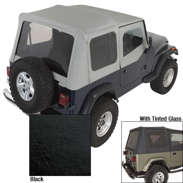 XHD Soft Top, Black Denim, Tinted Windows by Rugged Ridge ('88-'95 Jeep Wrangler YJ)
