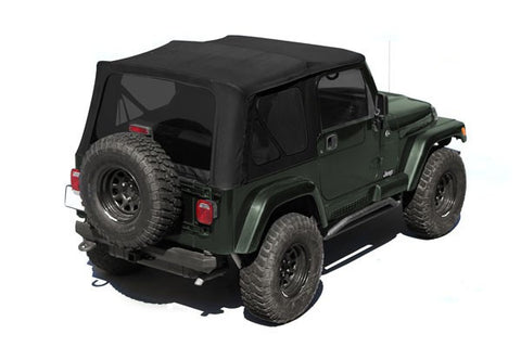 XHD Soft Top, Black Diamond, Tinted Windows With Door Skins by Rugged Ridge ('88-'95 Jeep Wrangler YJ)