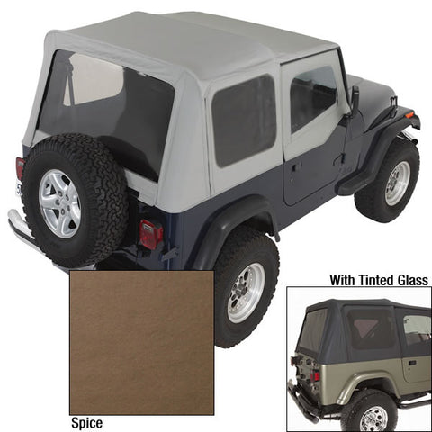 XHD Soft Top, Spice, Tinted Windows by Rugged Ridge ('88-'95 Jeep Wrangler YJ)