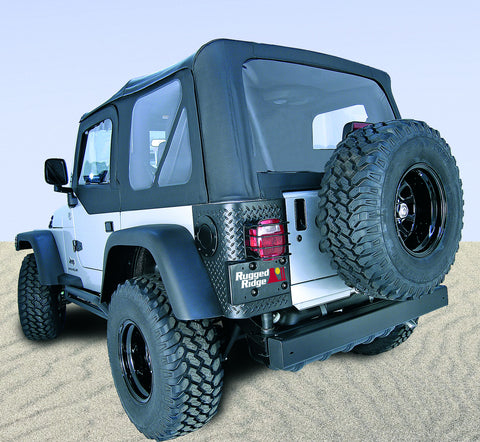 XHD Soft Top, Black Diamond, Tinted Windows, With Door Skins by Rugged Ridge ('97-'06 Jeep Wrangler TJ)