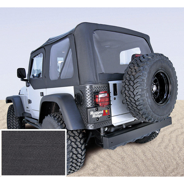 XHD Soft Top, Black, Clear Windows by Rugged Ridge ('97-'06 Jeep Wrangler TJ)