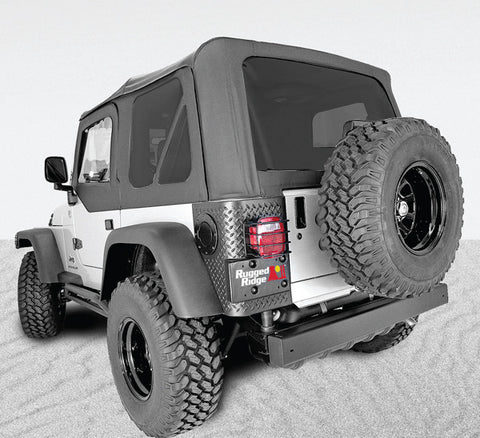 XHD Soft Top, Black, Tinted Windows, Sailcloth by Rugged Ridge ('97-'06 Jeep Wrangler TJ)